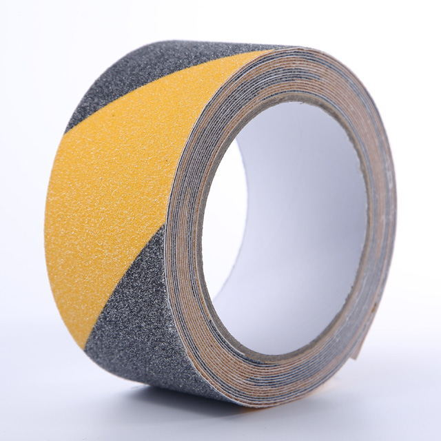 Removable Black and Yellow Warning Anti Slip Tape